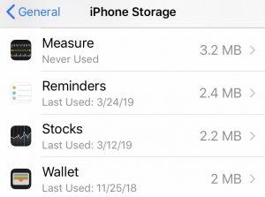 Unused Apps
